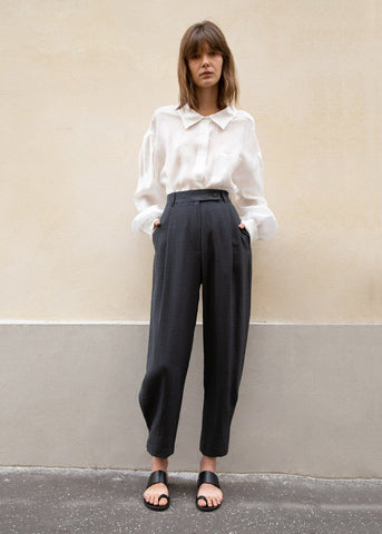 Tab Cuff Trousers in Slate Grey Pants Blossom