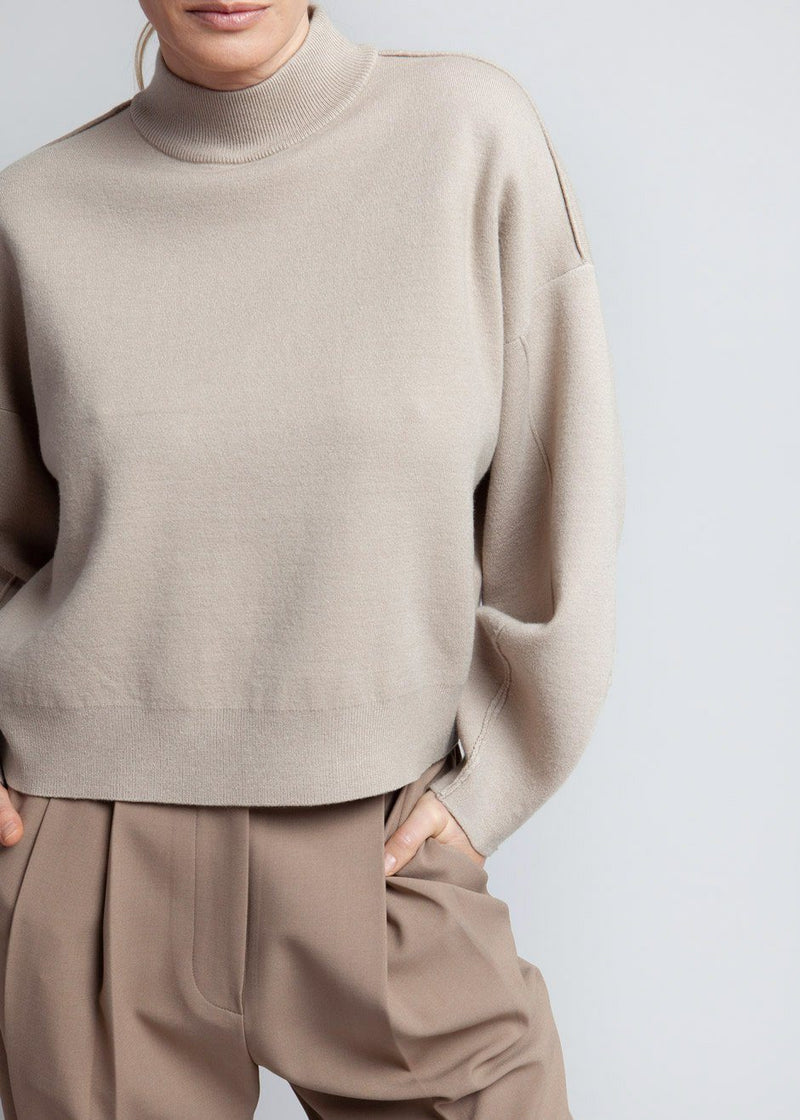 Talli Knit Turtleneck by Gestuz in Pure Cashmere Sweater Gestuz