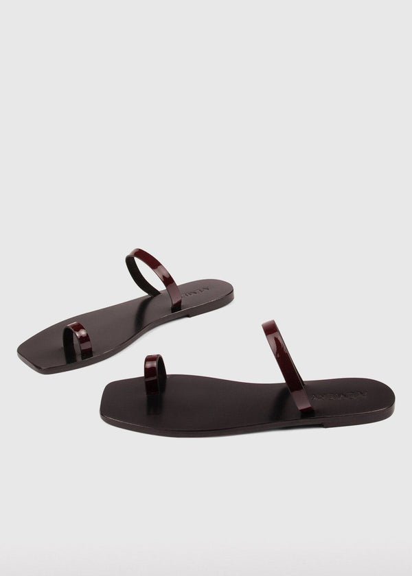 The Kin Sandal by A.Emery in Deep Berry Shoes A.Emery