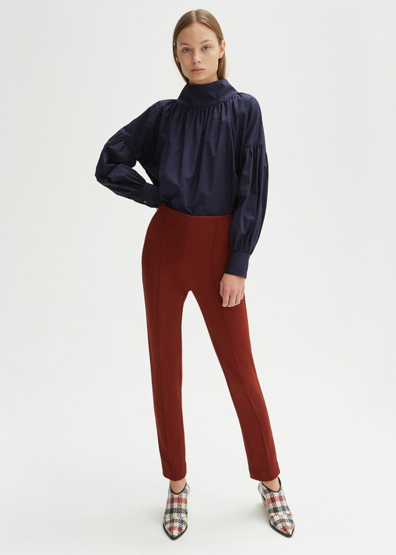 Tibor Tonka Brown Slim Pants by Rodebjer Pants Rodebjer