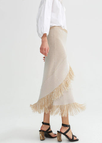 Tidar Skirt in Light Sand by Rodebjer Skirt Rodebjer