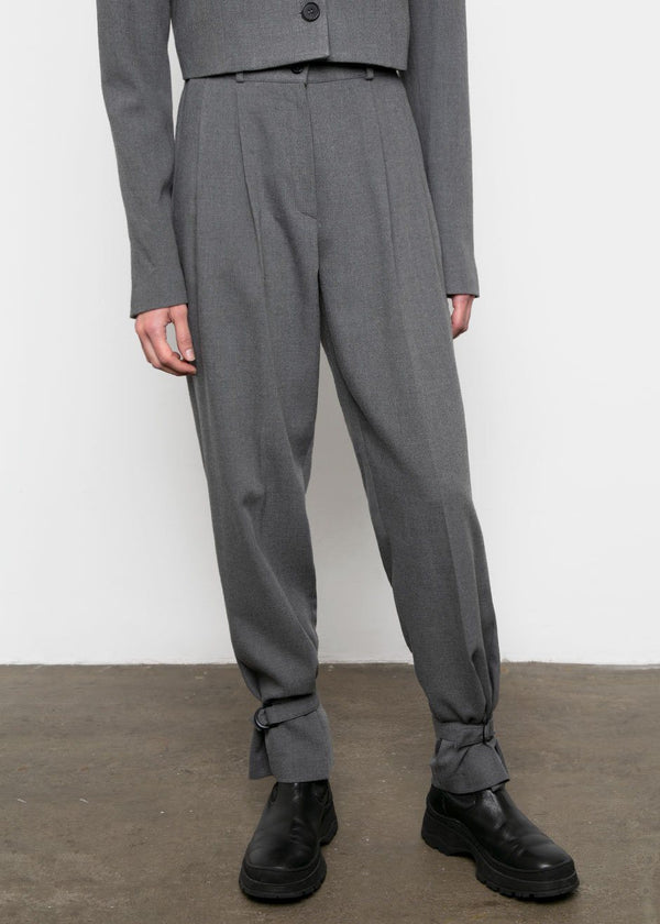 Tie Cuff Trousers in Smoke pants Veranda