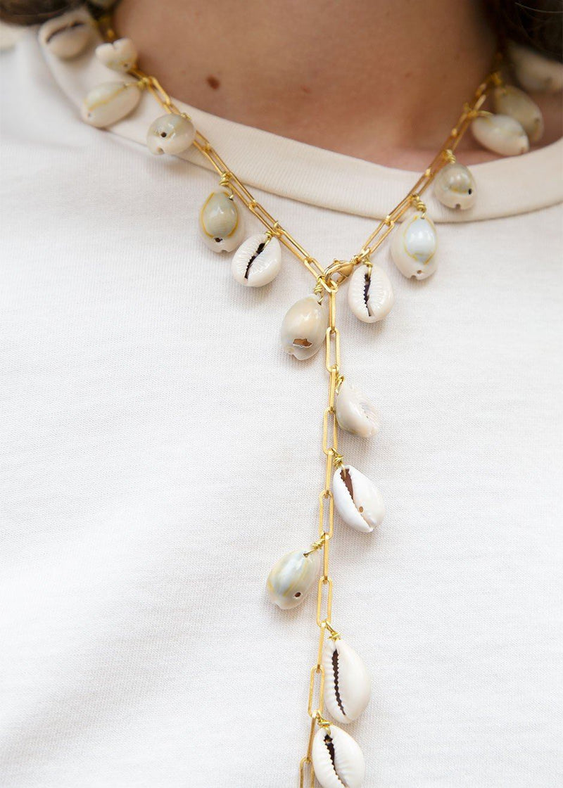 Timeless Pearly Shell Initial Necklace Necklace Timeless Pearly