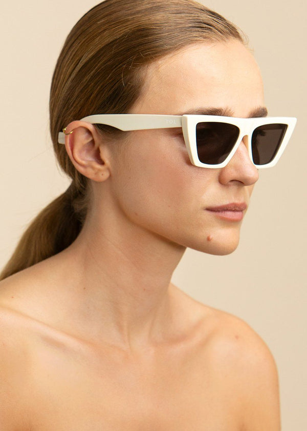 Trapezium Sunglasses by TOL Eyewear in Meringue Sunglasses TOL Eyewear