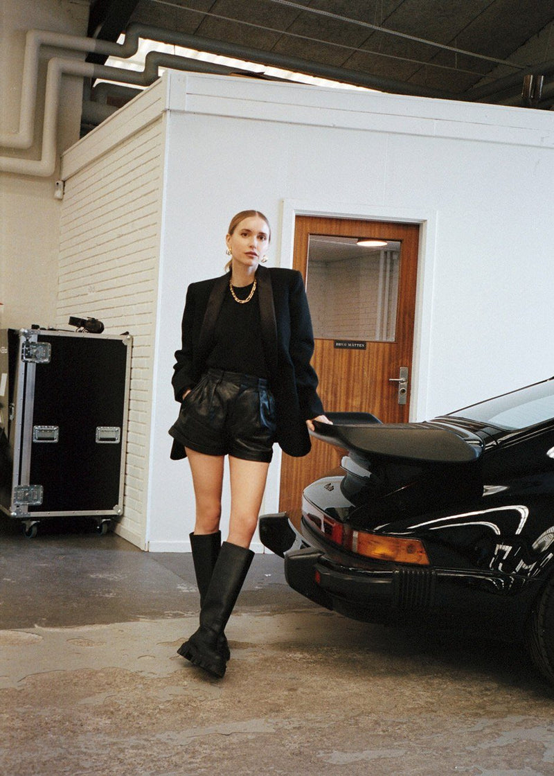Tubular Lug Sole Boots by GIA x Pernille Teisbaek in Black Shoes gia X Pernille Teisbaek