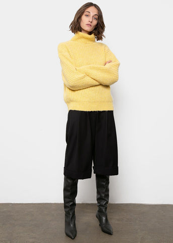 Turtleneck Sweater in Sunlight Yellow Sweater Mellor