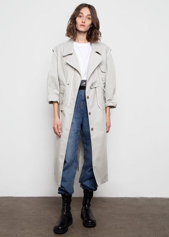 Two Piece Trench Coat- Seafoam Grey trench money packing