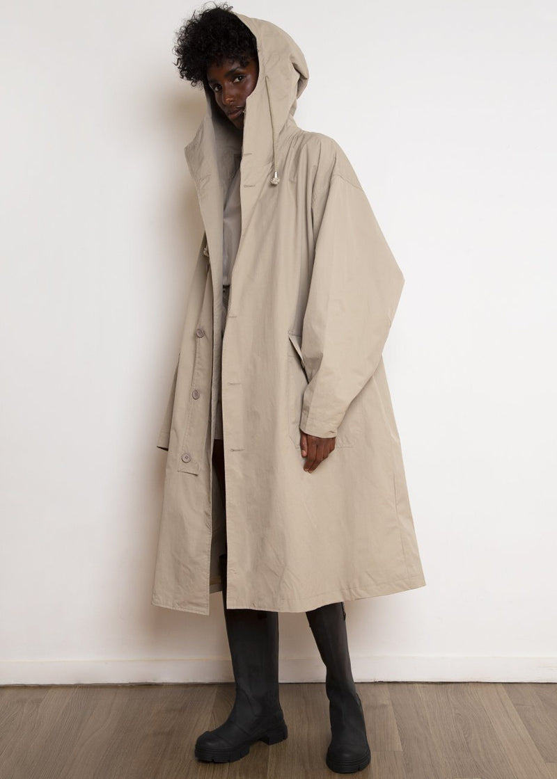 Utility Hooded Rain Parka in Clay Coat The Frankie Shop