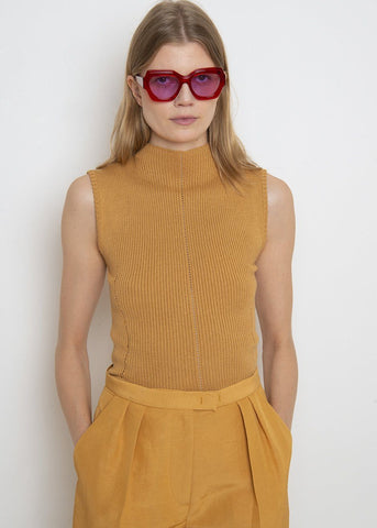 Utter Top in Gold by Rachel Comey Top Rachel Comey