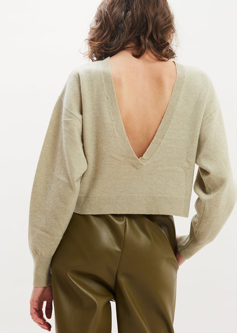Valcyrie Open Back Sweater by Remain Birger Christensen in Seafoam Green Sweater Remain