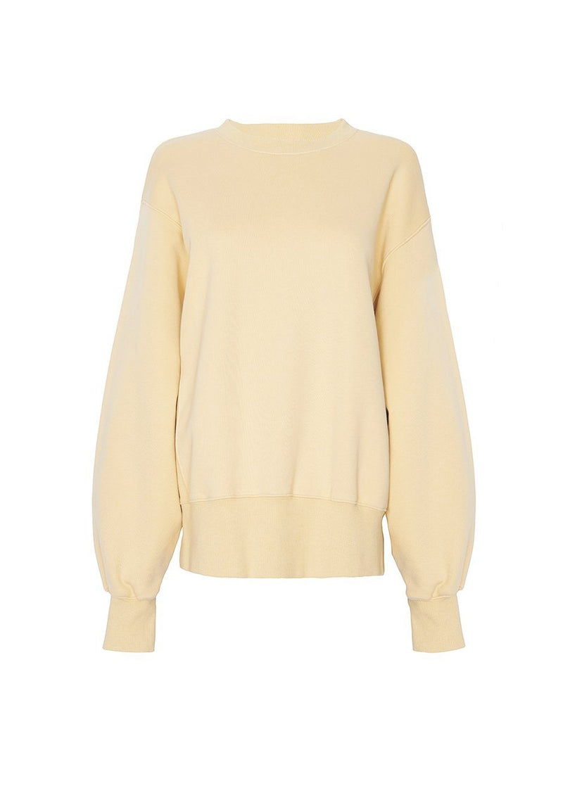 Vanessa Padded Shoulder Sweatshirt- Banana Sweatshirt The Frankie Shop