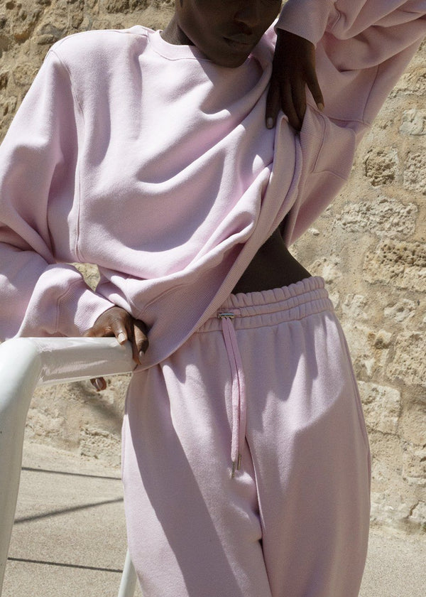 Vanessa Sweatpants in Bubble Pink pants The Frankie Shop