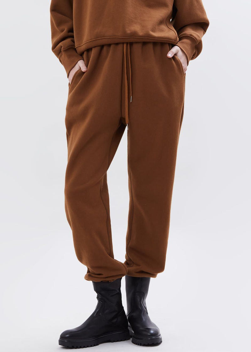 Vanessa Sweatpants in Chocolate Brown pants The Frankie Shop