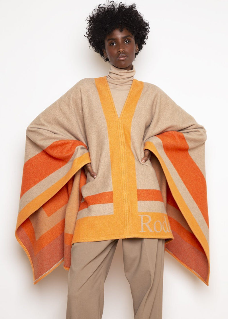 Varca Poncho by Rodebjer in Camel Poncho Rodebjer