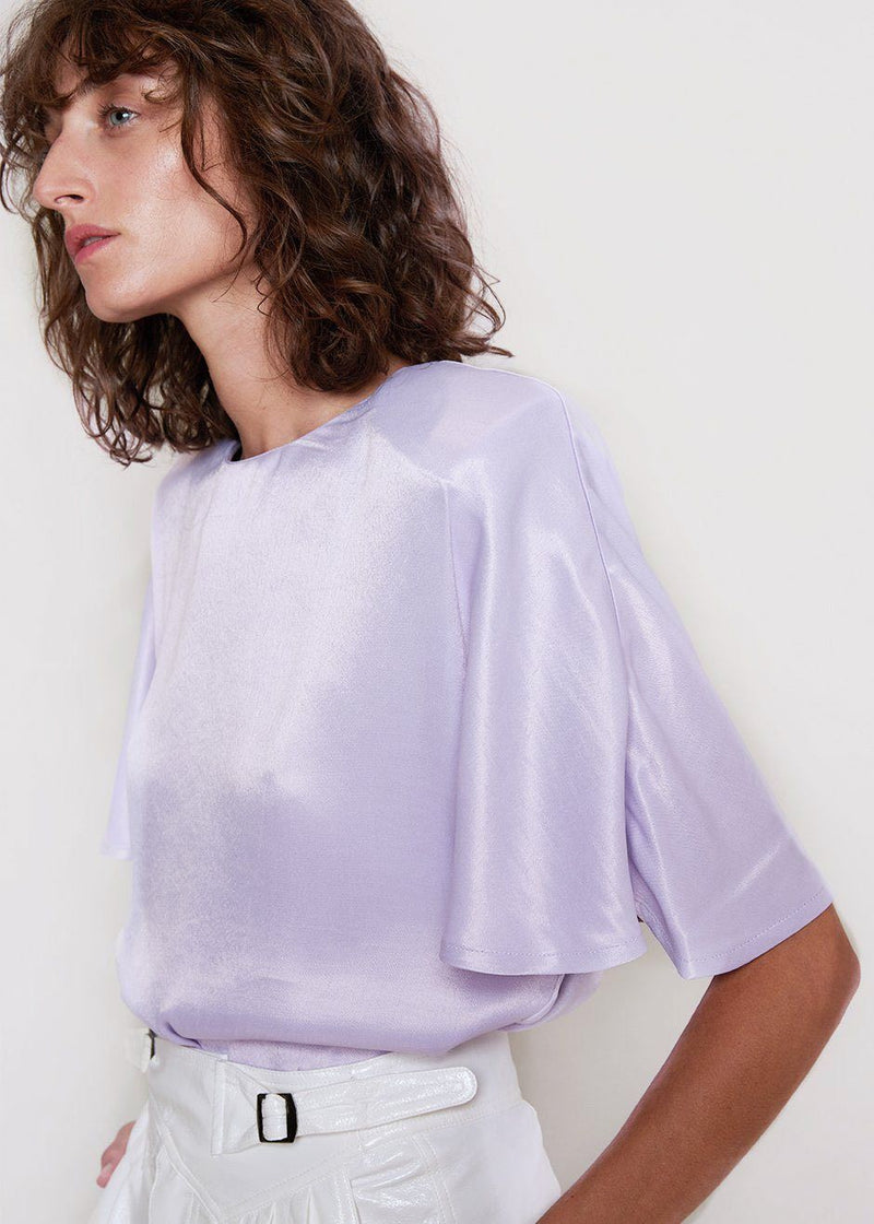 Vera Top by ROTATE in Pastel Lilac Top Rotate