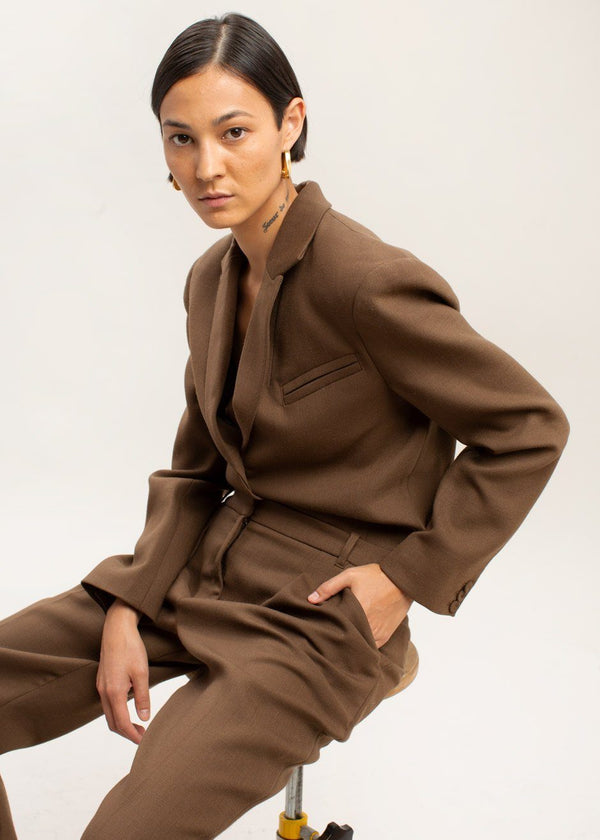 Wall Street Jumpsuit by The Garment in Brown Jumpsuit The Garment