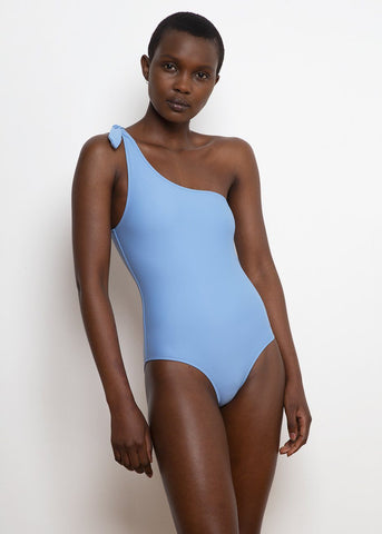 White Horse One Shoulder Swimsuit by Bower- Sky Blue swimsuit Bower