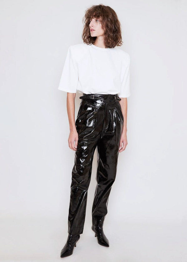 Wilde High Waist Pants by ROTATE in Black Pants Rotate
