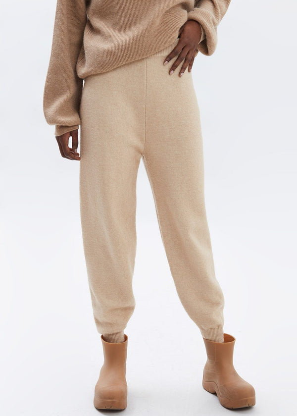 Wool Knit Jogger Pants in Ginger pants Bes