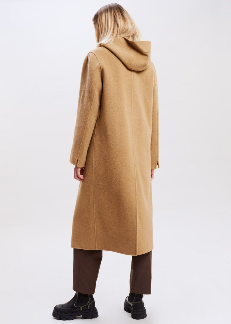 Wool Robe Coat in Hazelnut Coat Ling