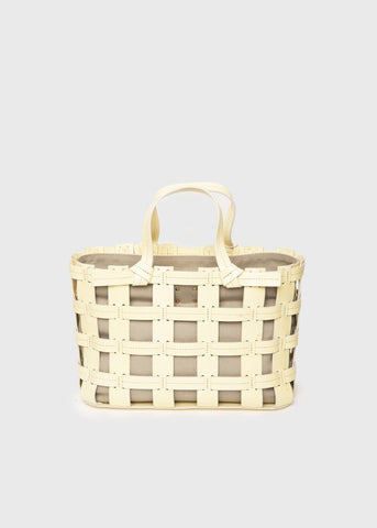 Yellow & Grey Frances Cage Tote by Trade-Mark Bag Trademark