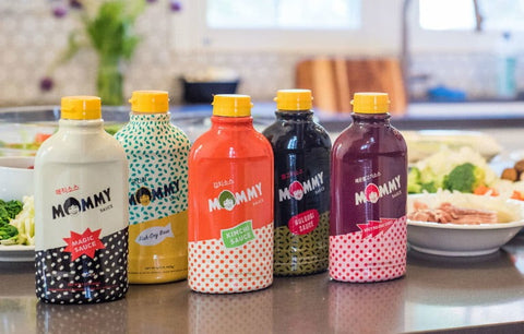 colorful collection of mommy sauce products
