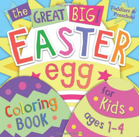 colorful easter coloring book