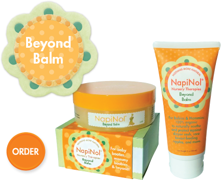 orange packages of napinol baby skin cream
