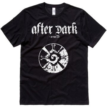 """After Dark"" tee (black) front"
