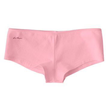 Doin' Squats Boy Shorts (pink) front