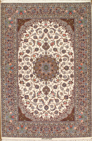 Hand-Knotted Isfahan Design Persian Rug