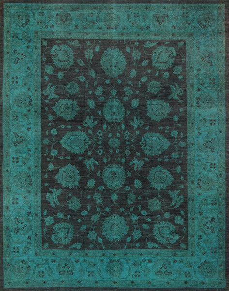 Overdye  Hand-Knotted Lamb's Wool Area Rug