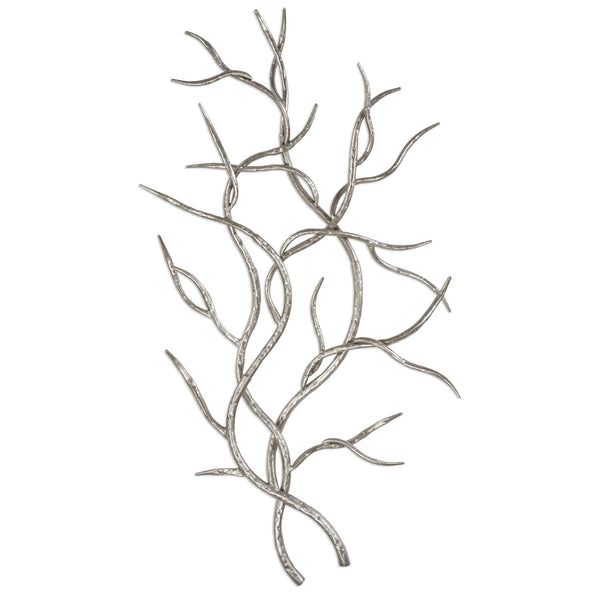 Silver Branches Wall Art S/2