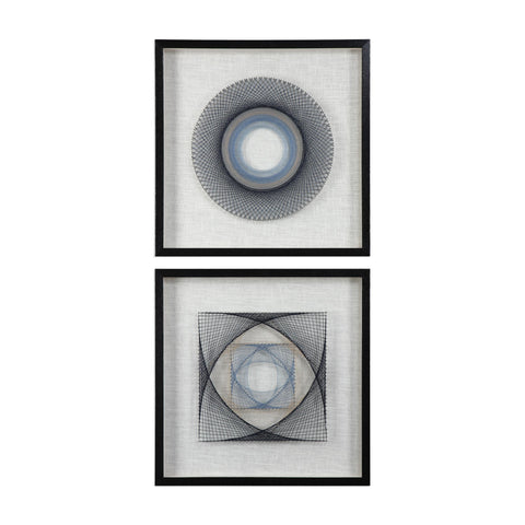 String Duet Geometric Art S/2