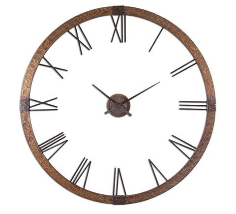 Amarion 60inch Copper Wall Clock
