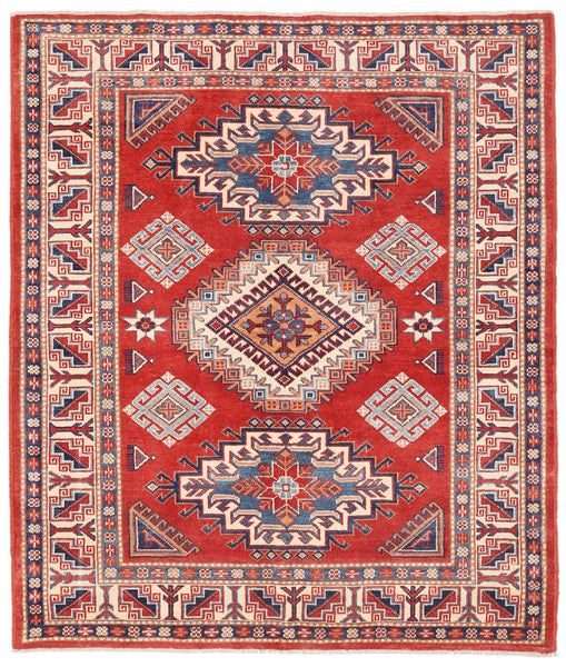 Kazak  Hand-Knotted Wool Area Rug