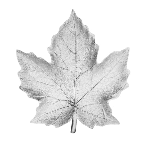 Silver Resin Maple Leaf Plate Rf