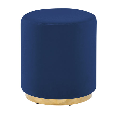 Navy/Gold Velveteen Stool