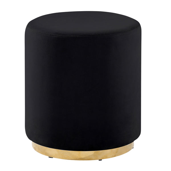 Black/Gold Velveteen Stool