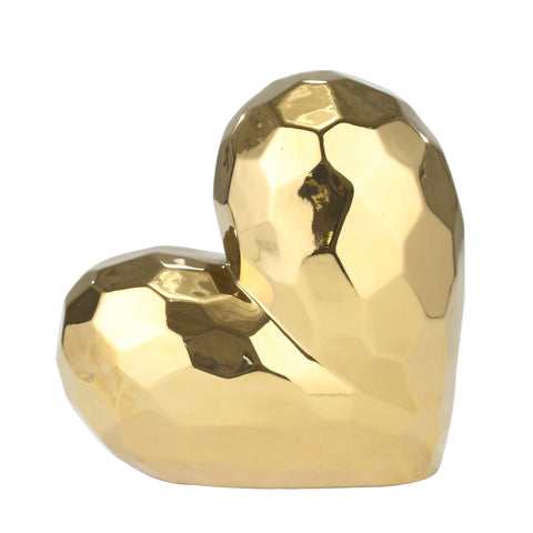 Gold Ceramic Heart 7.75