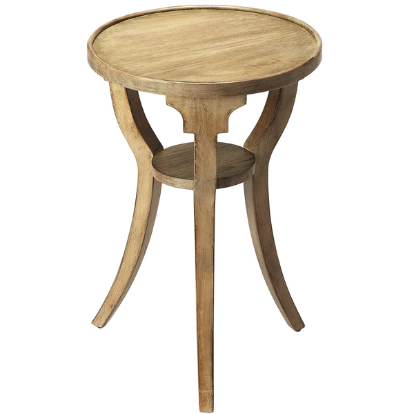 Dalton Driftwood Round Accent Table