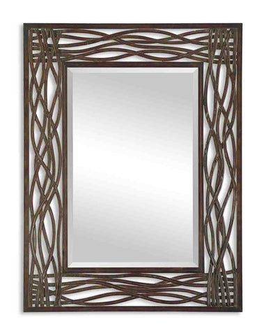Dorigrass Brown Metal Mirror