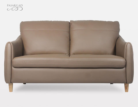 April Leather Loveseat