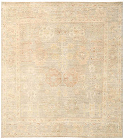 Gray Oushak Design Rug