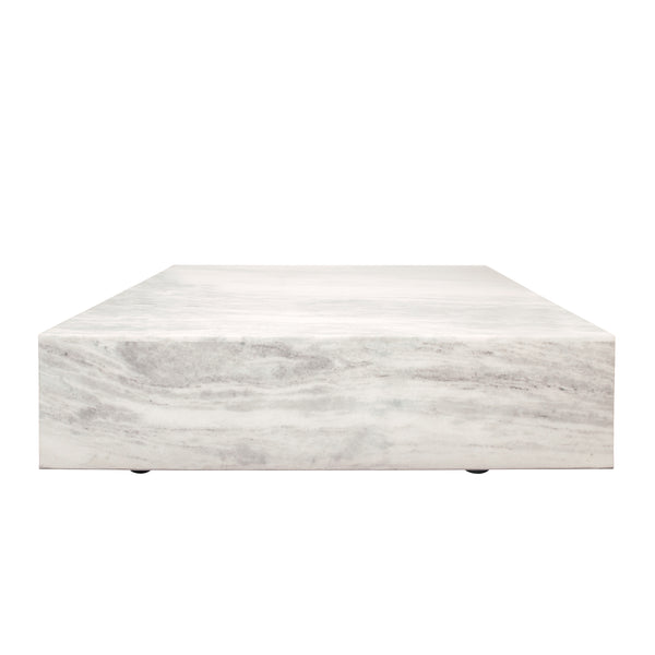 48X48 Marble Coffee Table, White