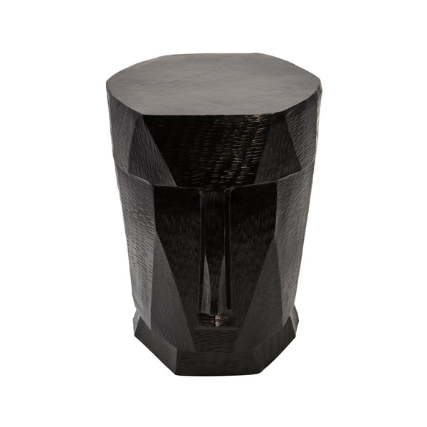 Metal Face Stool, Black