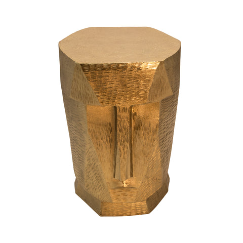 Metal Face Stool, Gold
