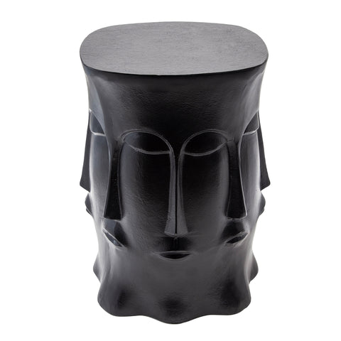 Metal Multi-Faced Stool, Black