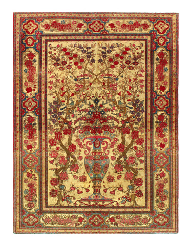 Beige Antique Persian Isfahan Rug