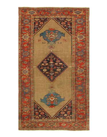 Camel Antique Persian Bidjar Rug